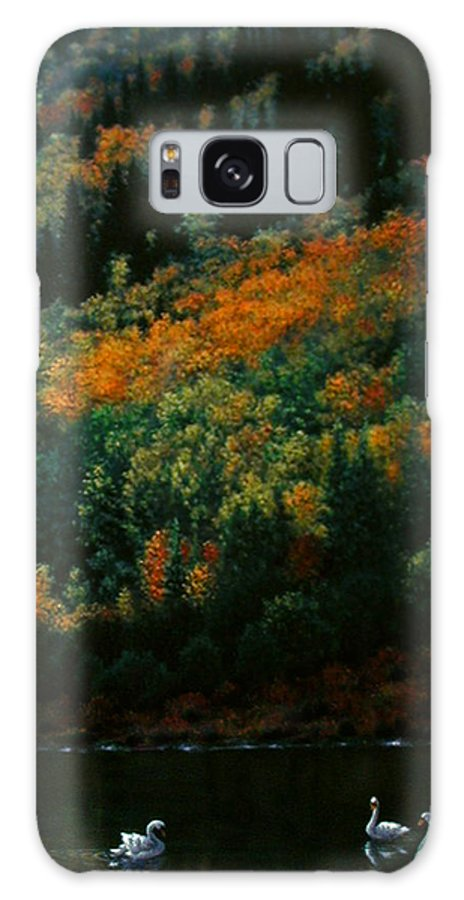 Scenic Galaxy S8 Case featuring the painting Sentinels Of September Serenity by Stephen Lucas