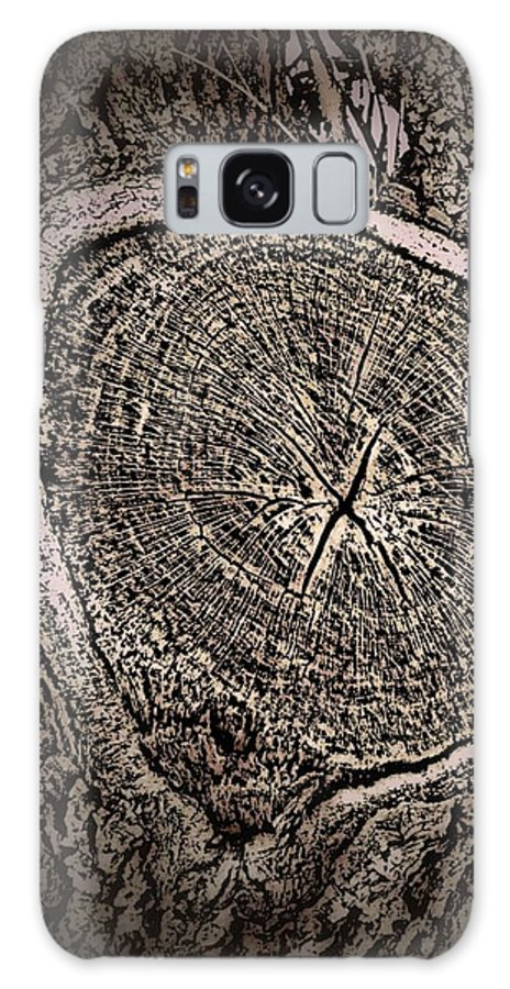 Tree Galaxy S8 Case featuring the photograph Sepia Tree Rings by Zarya Parx Studio