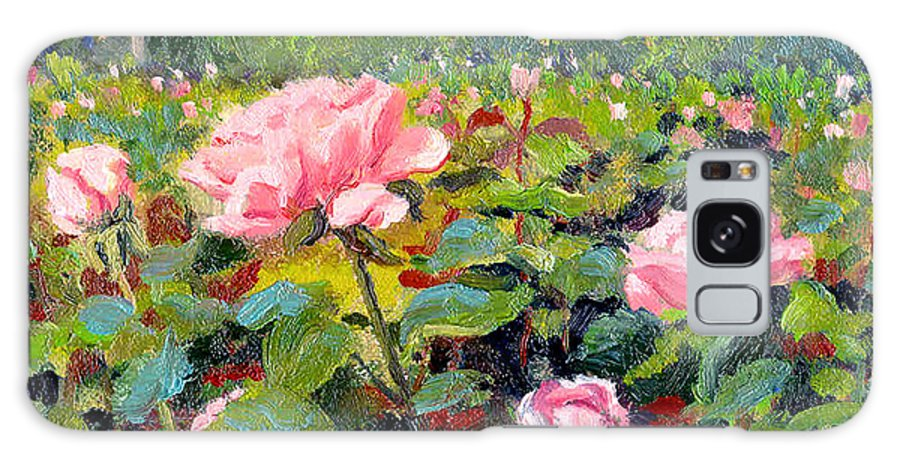 Impressionism Galaxy S8 Case featuring the painting September Roses by Keith Burgess