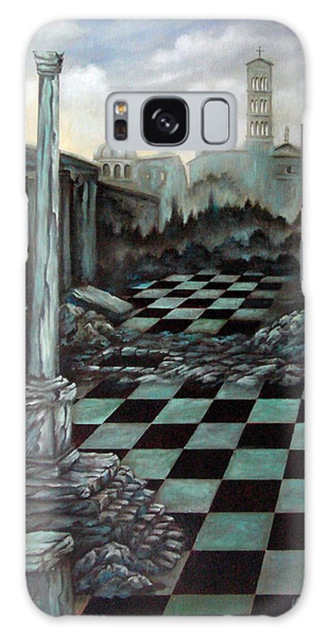 Surreal Galaxy Case featuring the painting Sepulchre by Valerie Vescovi