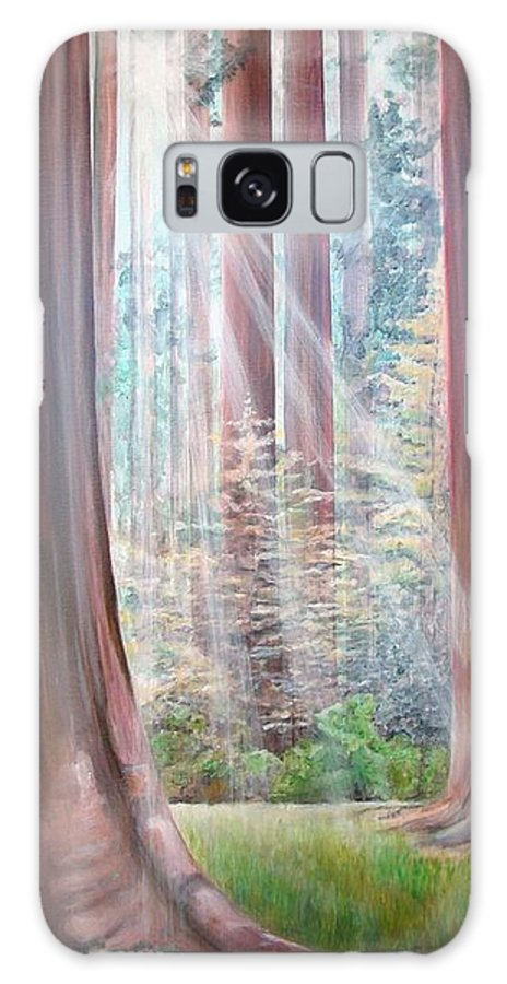 Landscape Galaxy Case featuring the painting Sequoia by Muriel Dolemieux