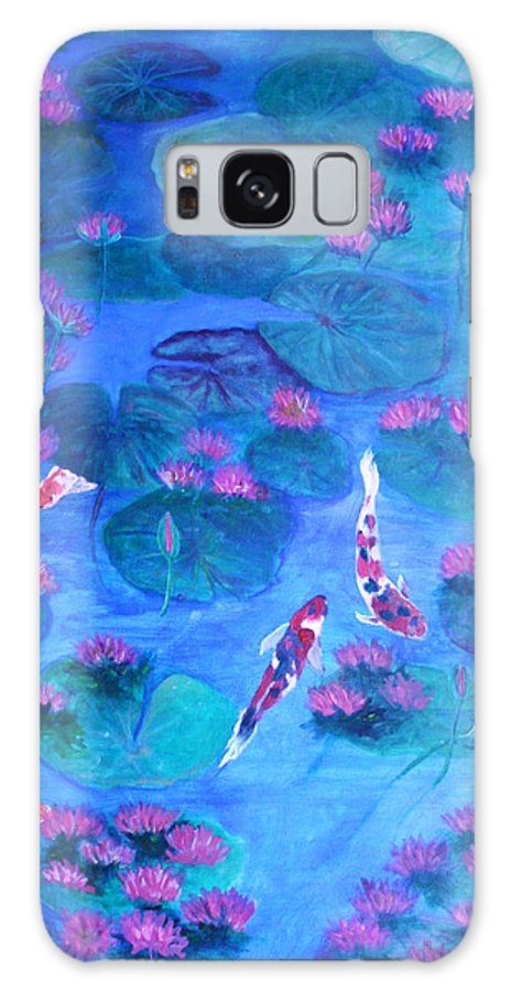 Lily Pads Galaxy S8 Case featuring the painting Serene Pond by Ben Kiger