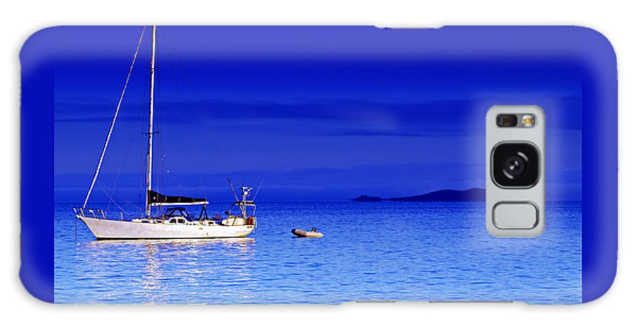 Transportation. Boats Galaxy Case featuring the photograph Serene Seas by Holly Kempe