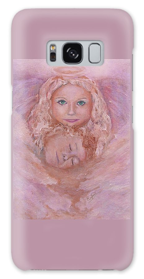 Angels Galaxy Case featuring the painting Serenity by Regina Brandt