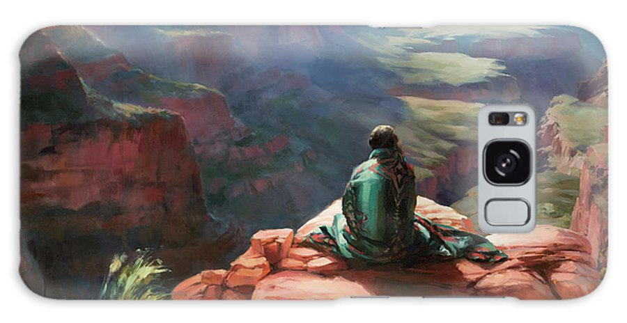 Southwest Galaxy Case featuring the painting Serenity by Steve Henderson