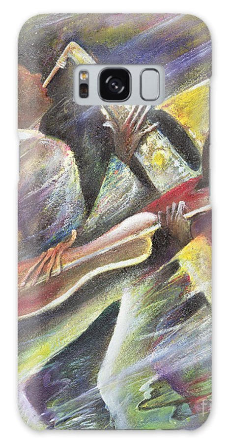African-american; African Galaxy S8 Case featuring the painting Session by Ikahl Beckford