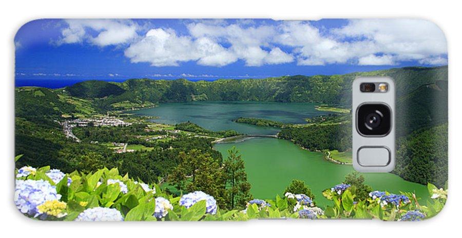 Sete Cidades Galaxy S8 Case featuring the photograph Sete Cidades Crater by Gaspar Avila