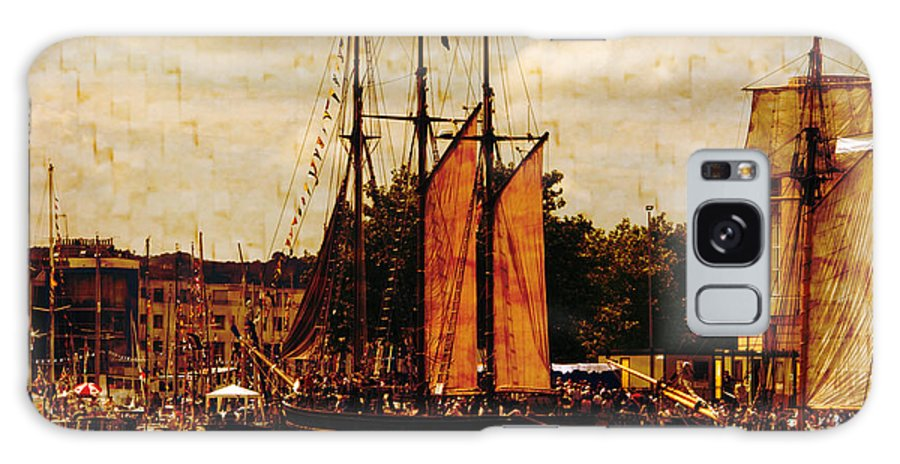 Tall Ships Galaxy S8 Case featuring the photograph Setting Sail From Bristol by Brian Roscorla