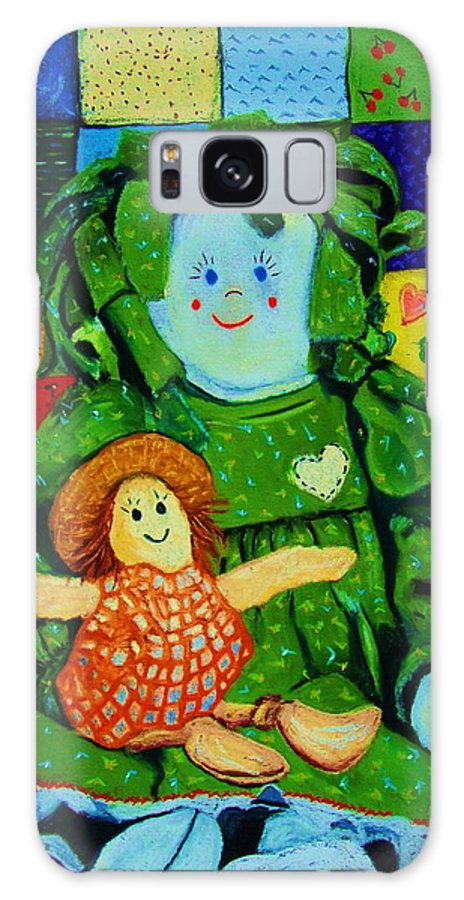Dolls Galaxy S8 Case featuring the print Sew Sweet by Melinda Etzold