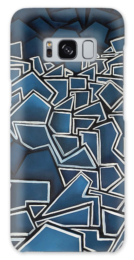Abstract Galaxy Case featuring the painting Shadderd Space by Thomas Valentine