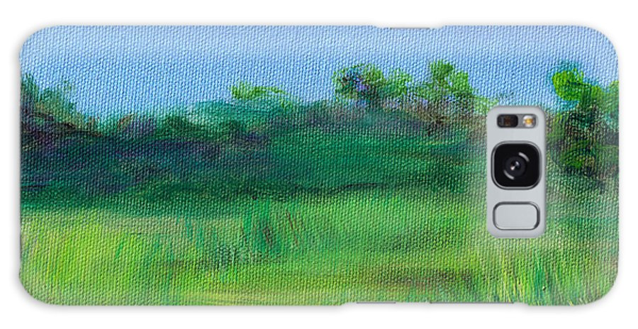 Shaded Meadow Galaxy S8 Case featuring the painting Shaded Meadow by Regina Valluzzi