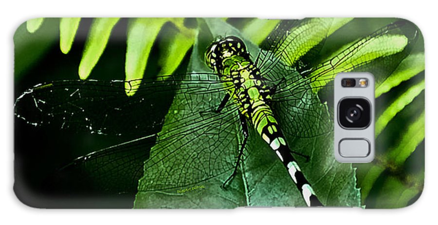 Dragonfly Galaxy S8 Case featuring the digital art Shades Of Green by DigiArt Diaries by Vicky B Fuller