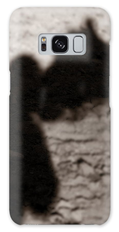 Shadow Galaxy S8 Case featuring the photograph Shadow Of Horse And Girl - Vertical by Angela Rath