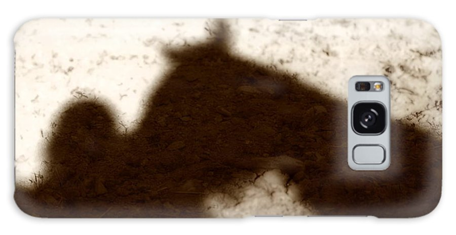 Shadow Galaxy S8 Case featuring the photograph Shadow Of Horse And Girl by Angela Rath