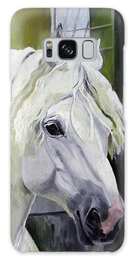 Horse Galaxy S8 Case featuring the painting Shadowfax by Nel Kwiatkowska