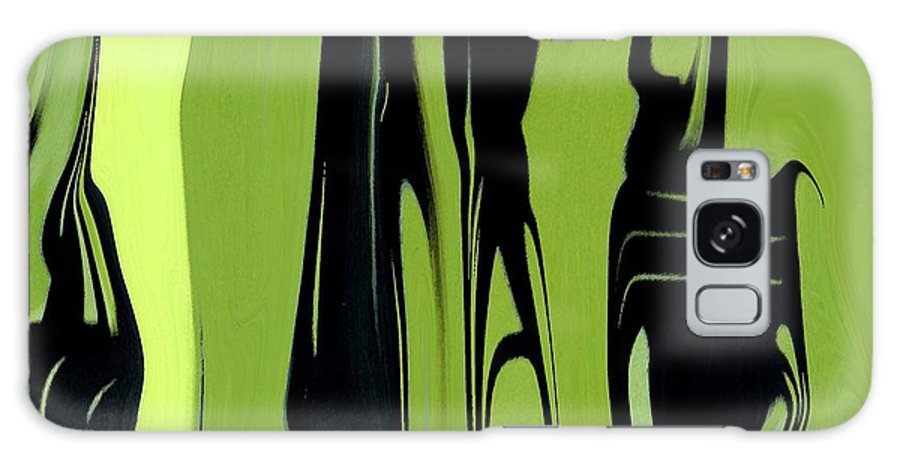 Abstract Galaxy S8 Case featuring the digital art Shadows Can Talk I by Florene Welebny