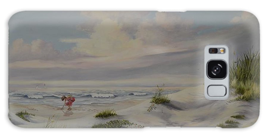 Landscape Galaxy S8 Case featuring the painting Shadows In The Sand Dunes by Wanda Dansereau