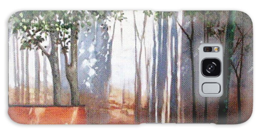 Gardens Galaxy S8 Case featuring the painting Shadows Number Two by Podi Lawrence
