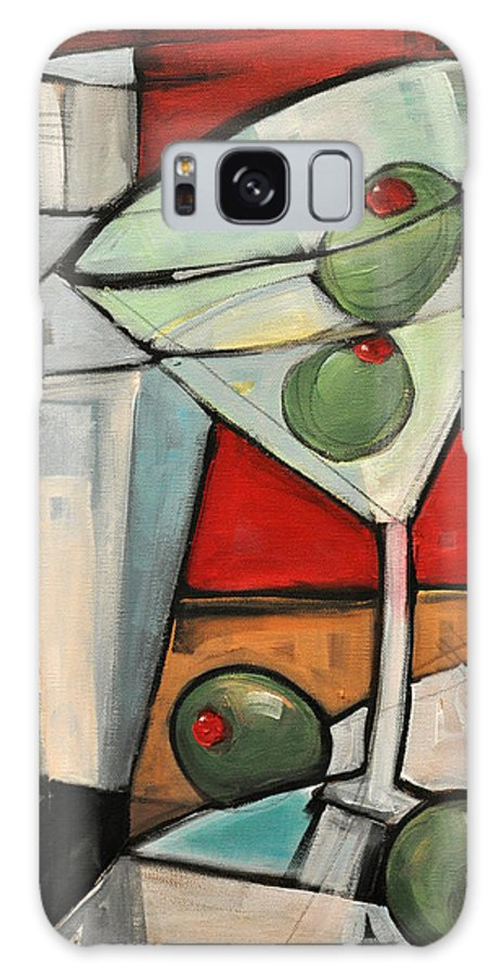 Martini Galaxy S8 Case featuring the painting Shaken Not Stirred by Tim Nyberg