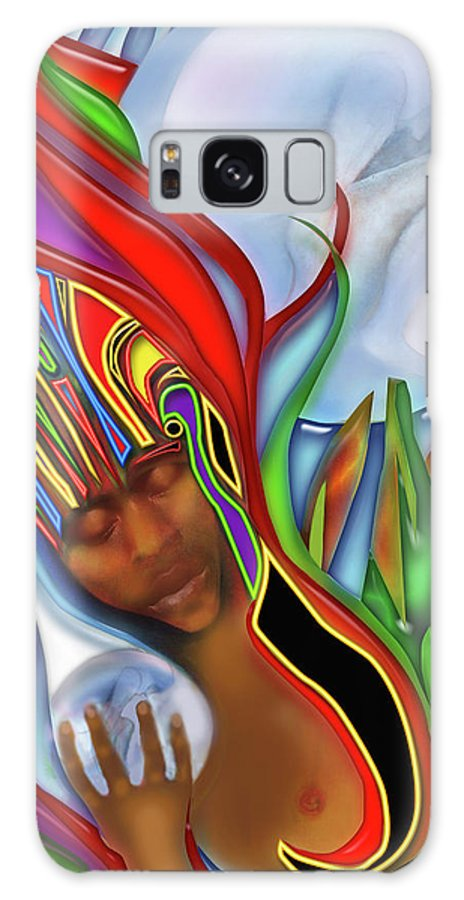 Shaman Galaxy S8 Case featuring the digital art Shaman by Larry Rice