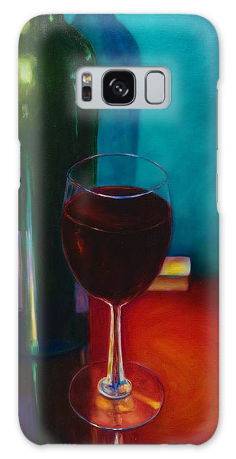 Wine Bottle Galaxy Case featuring the painting Shannon's Red by Shannon Grissom