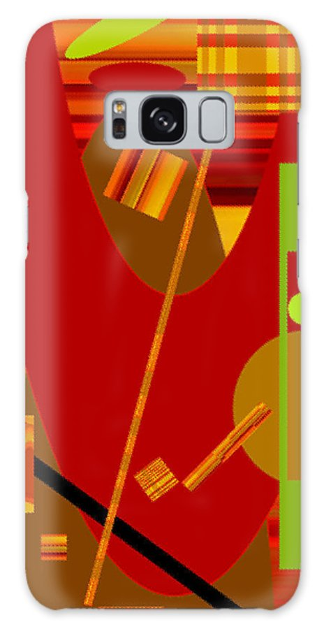 Abstract Galaxy Case featuring the digital art Shapes And Patterns In Red by Ruth Palmer