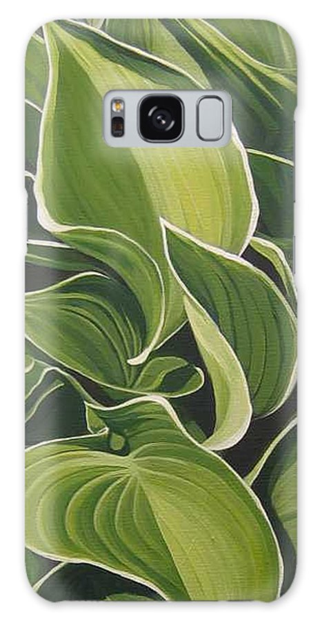 Closeup Of Hosta Plant Galaxy S8 Case featuring the painting Shapes that Go Together by Hunter Jay