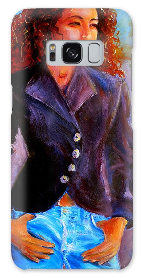 Acrylic Galaxy S8 Case featuring the painting Sharice by Jason Reinhardt