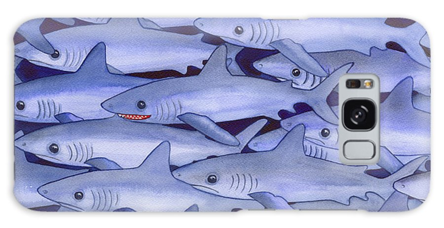 Shark Galaxy S8 Case featuring the painting Sharks by Catherine G McElroy