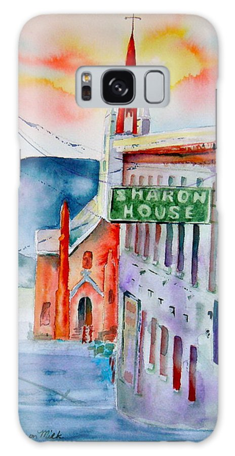 Sharon House Galaxy S8 Case featuring the painting Sharon House by Sharon Mick