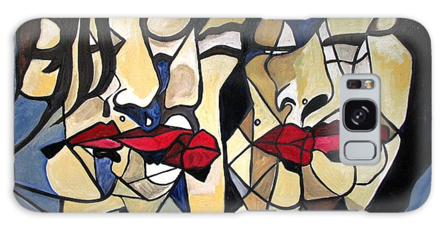Abstract Galaxy S8 Case featuring the painting She Had Red Lips by Patricia Arroyo