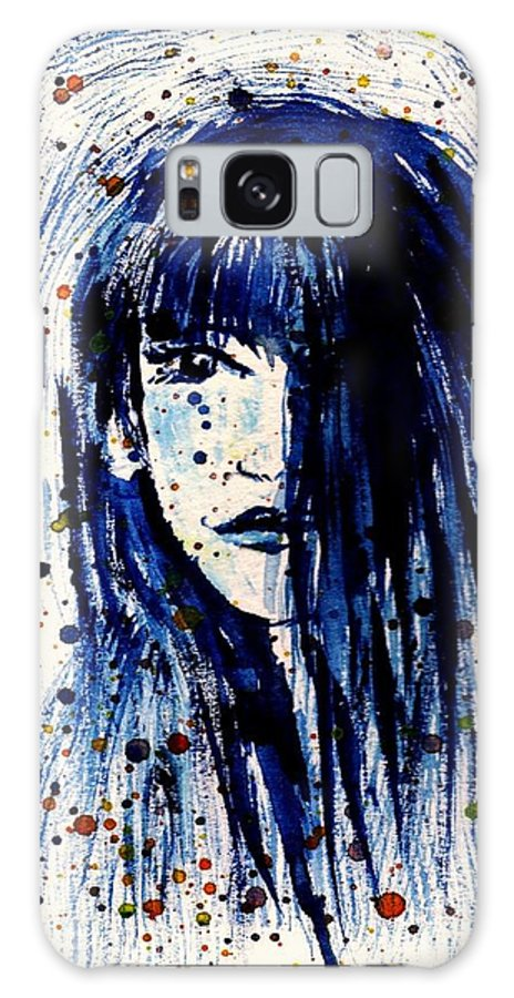 Portrait Galaxy S8 Case featuring the painting She Waits by Robin Monroe