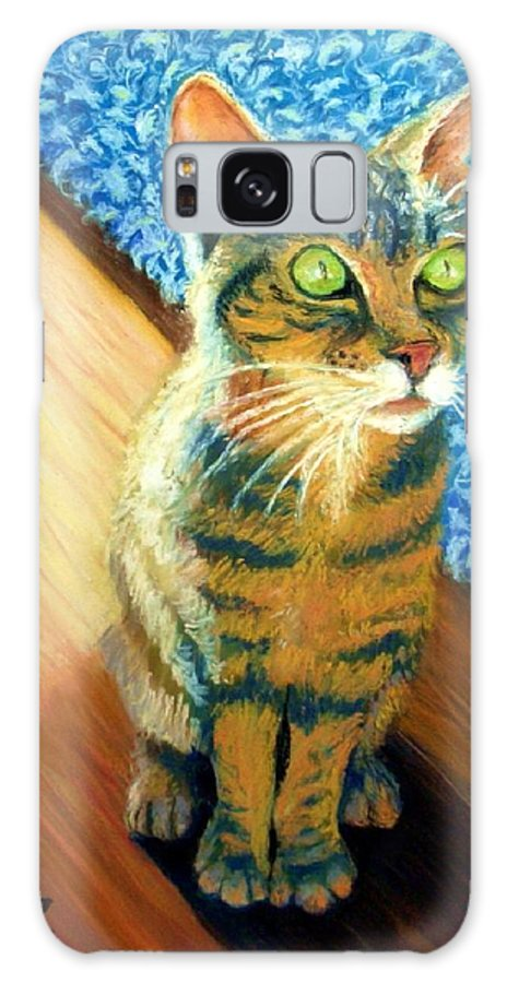 Cat Galaxy Case featuring the painting She Wants To Be Famous by Minaz Jantz