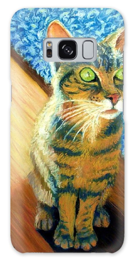 Cat Galaxy S8 Case featuring the painting She Wants To Be Famous by Minaz Jantz