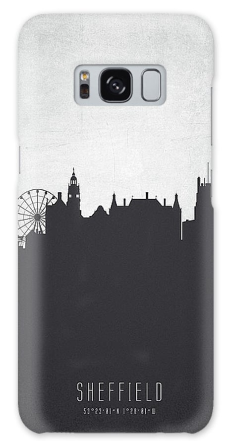 Sheffield Galaxy S8 Case featuring the painting Sheffield England Cityscape 19 by Aged Pixel