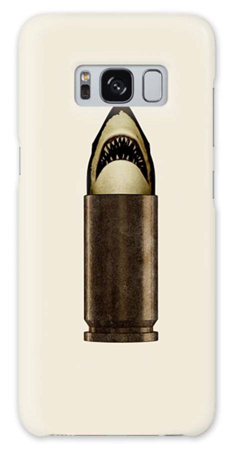 Bullet Galaxy S8 Case featuring the digital art Shell Shark by Nicholas Ely
