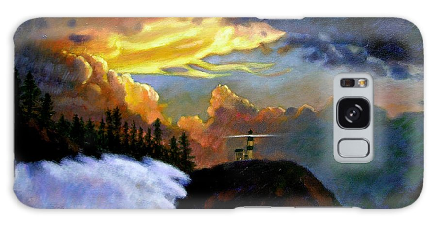Ocean Galaxy S8 Case featuring the painting Shelter From The Storm by John Lautermilch