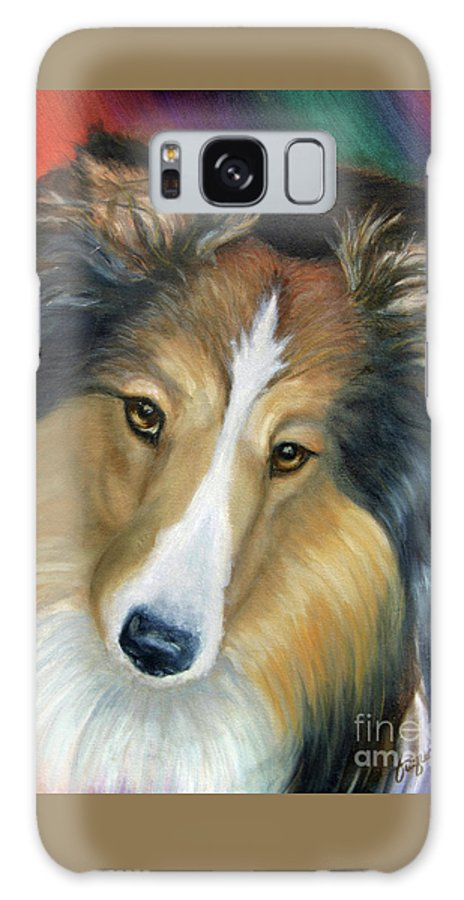Fuqua - Artwork Galaxy S8 Case featuring the painting Sheltie - Collie by Beverly Fuqua