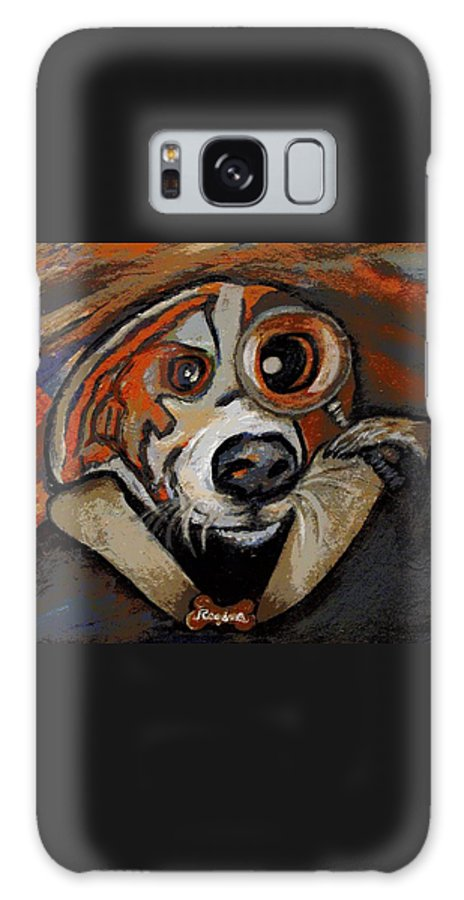 Dog Galaxy S8 Case featuring the painting Sherdog Holmes by Regina Brandt