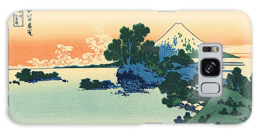Hokusai Galaxy Case featuring the painting Shichiri Beach In Sagami Province by Hokusai