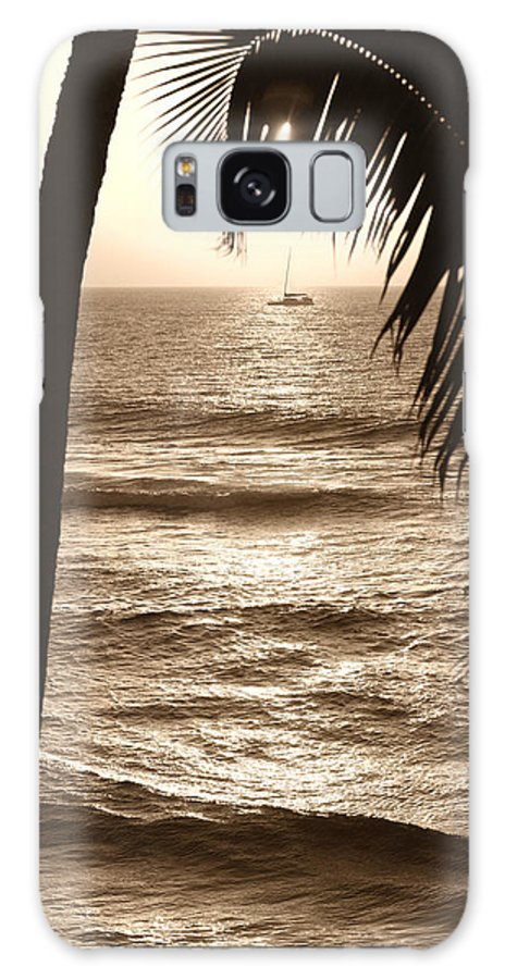 Hawaii Galaxy S8 Case featuring the photograph Ship in Sunset by Marilyn Hunt