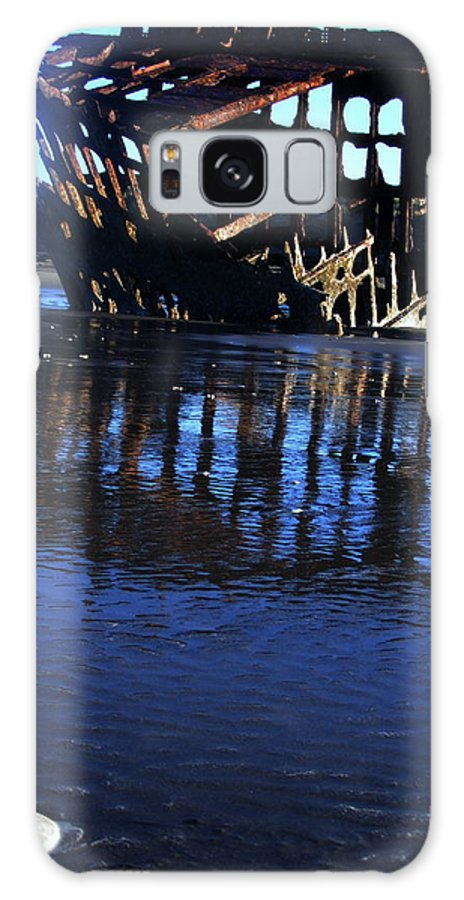 Steve Patton Galaxy S8 Case featuring the photograph Ship Wreck At Fort Stevens Park Oregon by Steve Patton