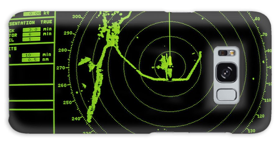 Radar Display Galaxy S8 Case featuring the photograph Ship's Radar Screen While In Port by David Parker