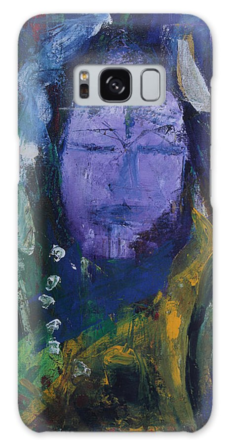 India Galaxy S8 Case featuring the painting Shiv Shivani by Varsha Kukreti
