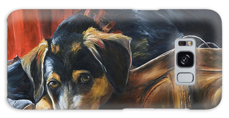 Dog Galaxy S8 Case featuring the painting Shoe Dog by Nik Helbig