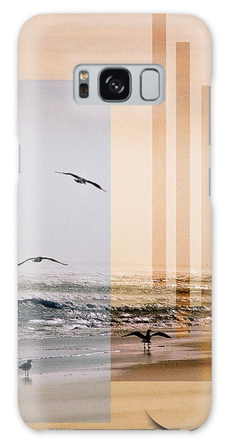Abstract Galaxy Case featuring the photograph Shore Collage by Steve Karol
