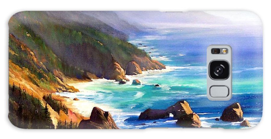 Seascape Galaxy Case featuring the painting Shore Trail by Frank Wilson