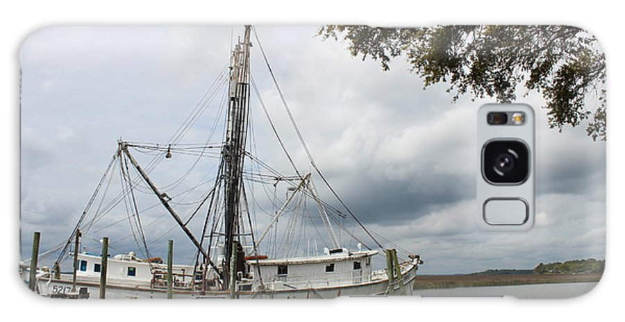 Boats Galaxy S8 Case featuring the photograph Shrimp Boat by Cheryl Kostanesky