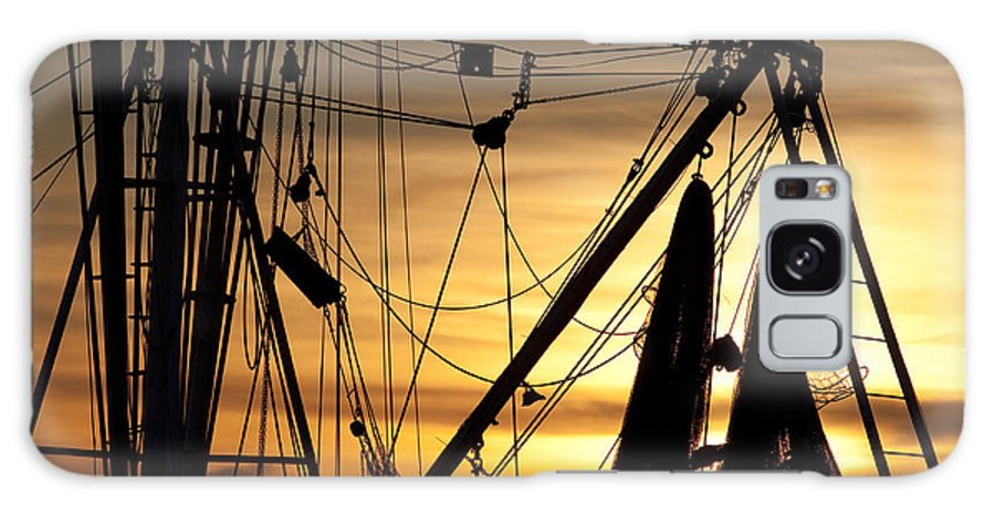 Shrimp Galaxy S8 Case featuring the photograph Shrimp Boat Rigging by Dustin K Ryan