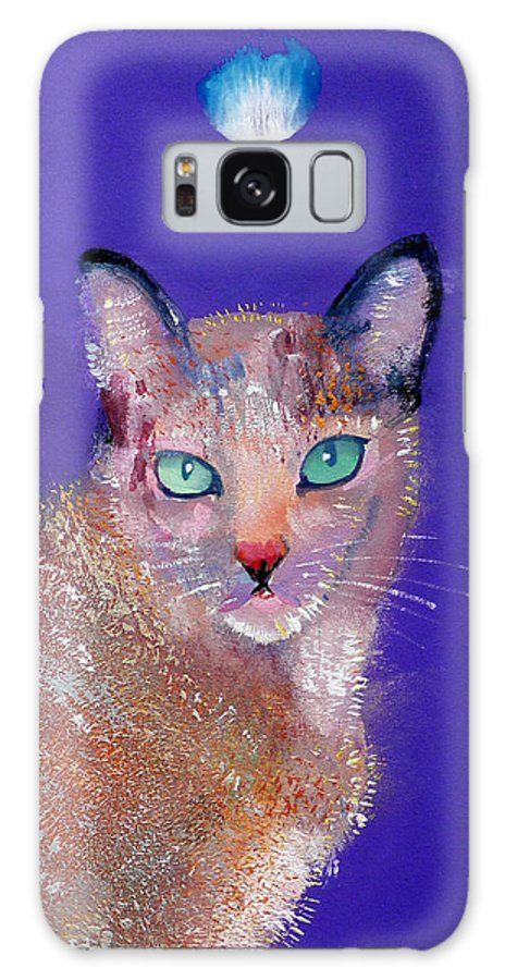 Cat Galaxy S8 Case featuring the painting Siamese Cat by Charles Stuart